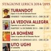 STAGIONE LIRICA 2014/15
